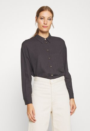 Button-down blouse - obsidian