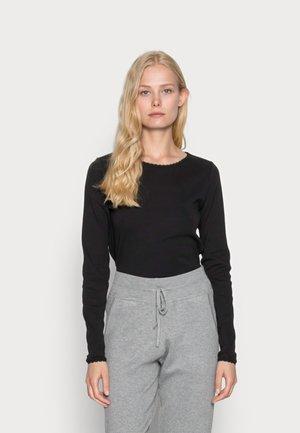 FULL NEEDLE LOND SLEEVE - Long sleeved top - black