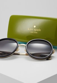 kate spade new york - LAMONICA - Solglasögon - black/gold-coloured