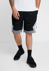 Jordan - JUMPMAN STRIPED SHORT - Sports shorts - black/gunsmoke/white - 0