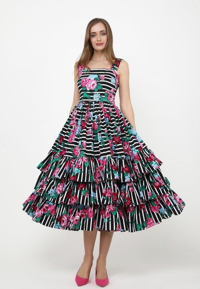 Vestito estivo - schwarz, rosa