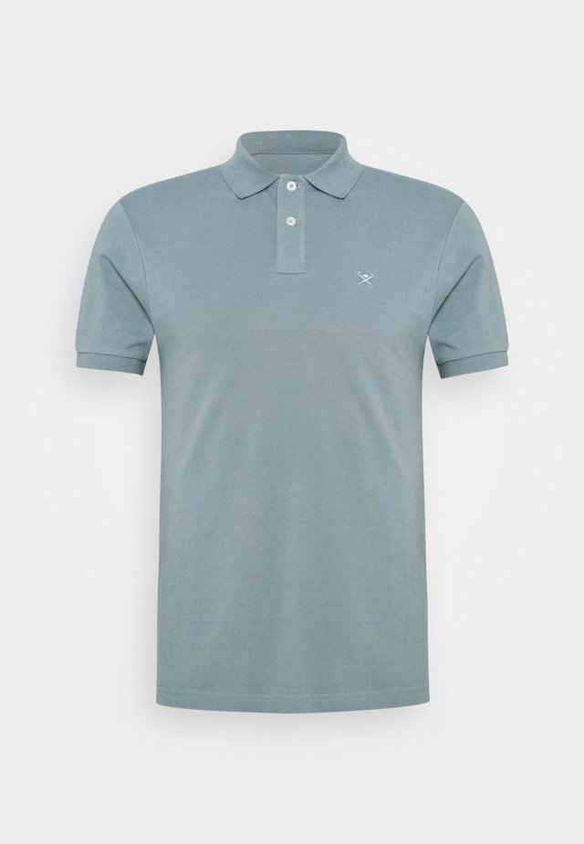 SLIM FIT LOGO - Polo - petrol