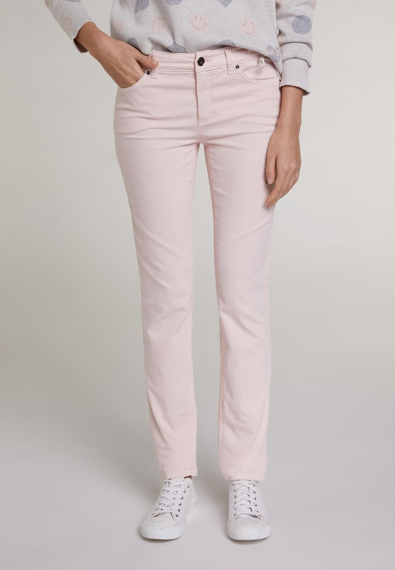 Oui - Slim fit jeans - peach whip
