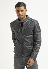 Gipsy - CHESTER - Leather jacket - dunkelgrau - 0