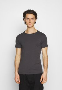 Replay - CREW TEE 3 PACK - Basic T-shirt - cold grey/ochre/military - 3