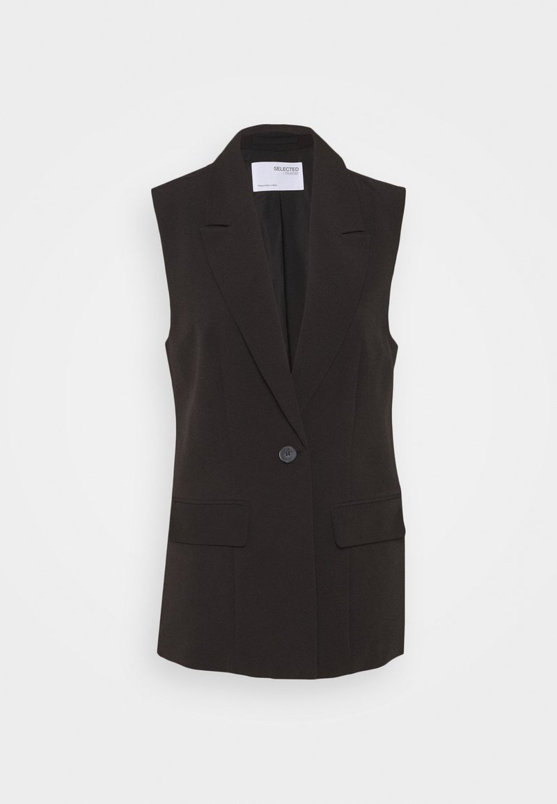 Selected Femme - SLFDILARA WAISTCOAT - Blazer - black
