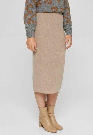 Pencil skirt - light taupe