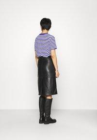 Deadwood - LARA SKIRT - Leather skirt - black - 2