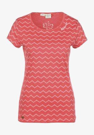 CHEVRON - Print T-shirt - red