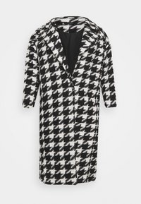 Simply Be - DOGTOOTH COAT - Classic coat - black/white - 0