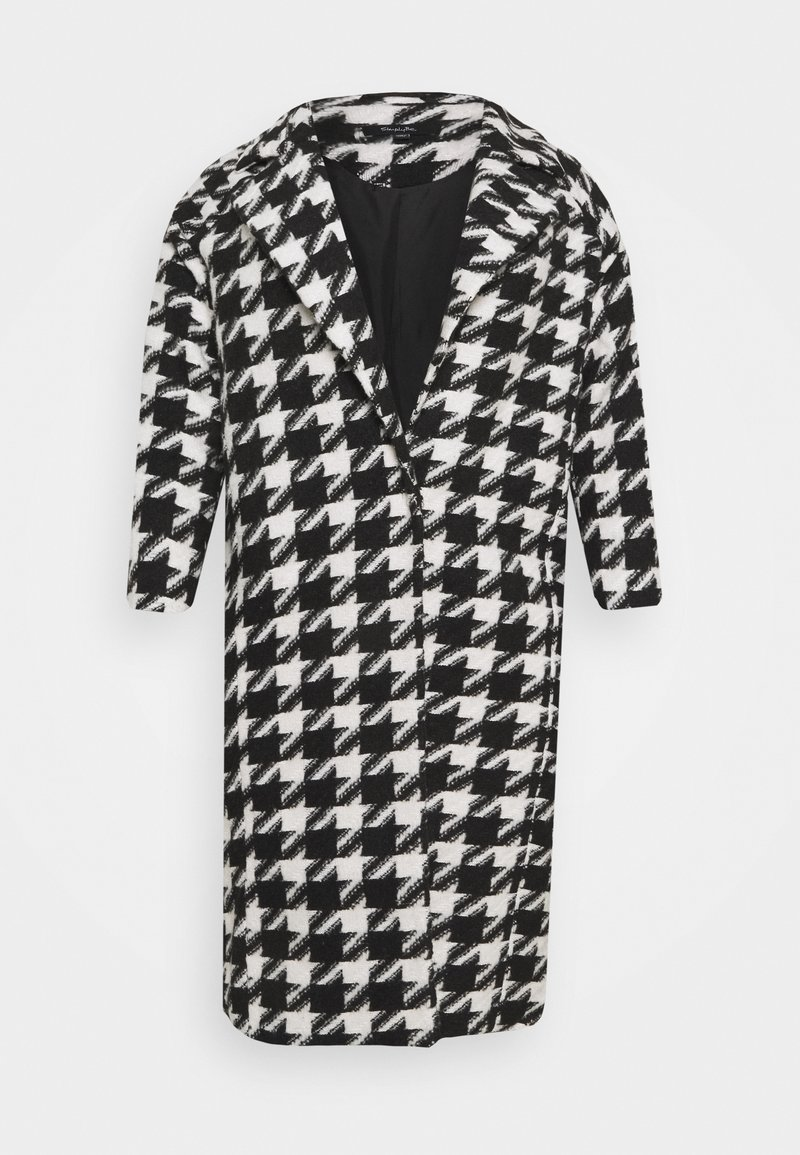 Simply Be - DOGTOOTH COAT - Classic coat - black/white
