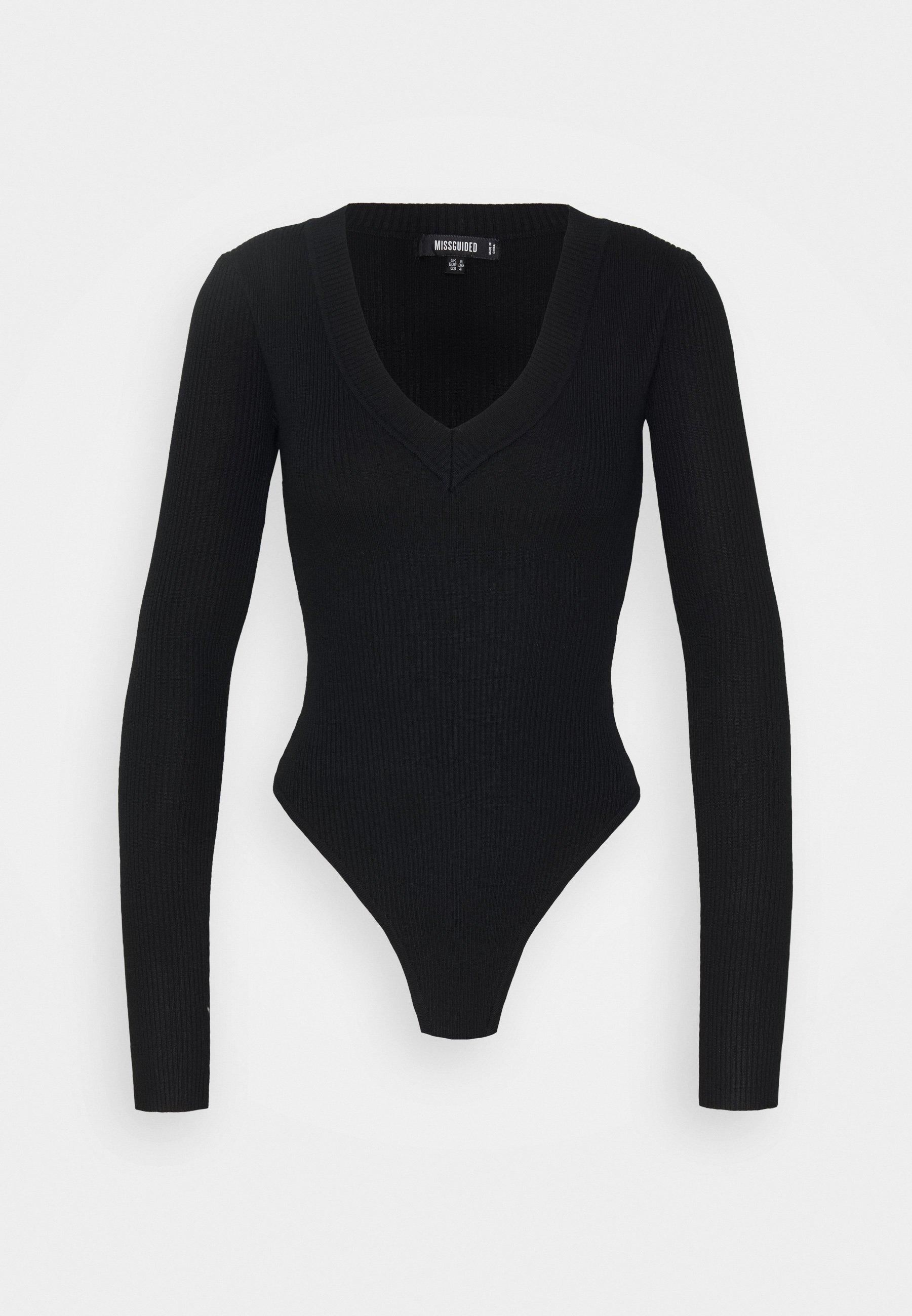 Women SKINNY V NECK - Long sleeved top