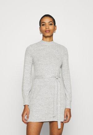BELTED COZY DRESS - Jumper dress - gray