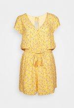 SURPLICE TIE WAIST ROMPER - Jumpsuit - yellow
