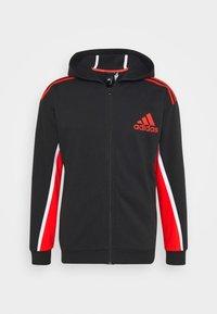 adidas Performance - HOODIE - Zip-up hoodie - black/red - 4