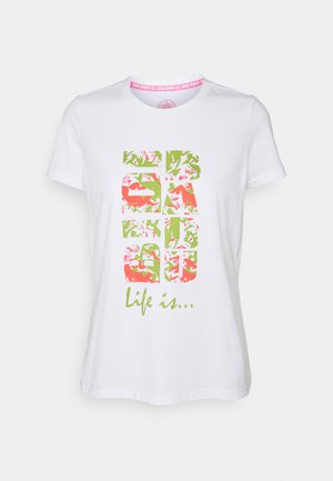 SAFI LIFESTYLE TEE - T-shirt med print - white