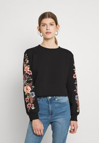 ONLY - ONLCONNY  LIFE O NECK - Sweatshirt - black - 2