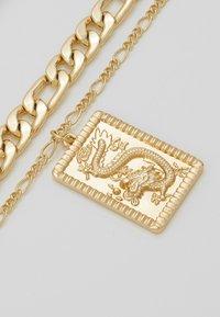 Topshop - FINE TAG MULTIROW - Halskette - gold-coloured - 4