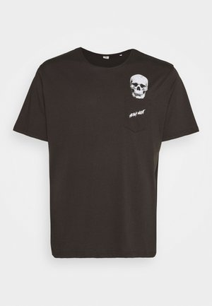HUMOUR PRINT TEE - Camiseta estampada - dusty black