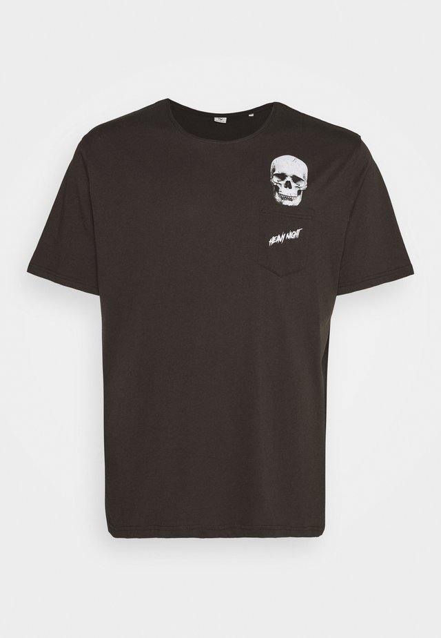 HUMOUR PRINT TEE - T-shirt med print - dusty black
