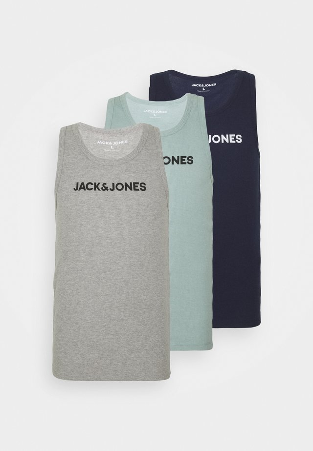 JACLOGO TANK 3 PACK - Undershirt - maritime blue/grey