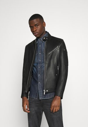 L-CASE-KA JACKET - Leather jacket - black