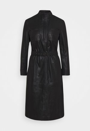 DRESS BELT - Shirt dress - black
