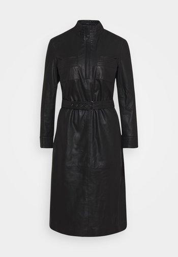 DRESS BELT - Shirt dress - black