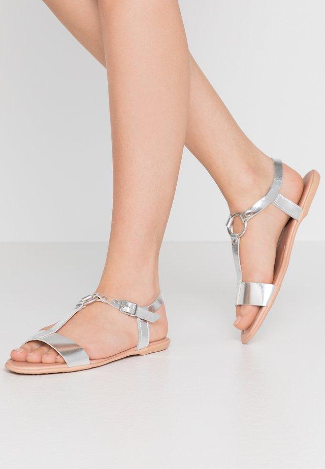 KONA T-STRAP - Sandals - silver