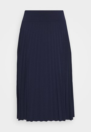 Plisse A-line mini skirt - A-line skjørt - maritime blue