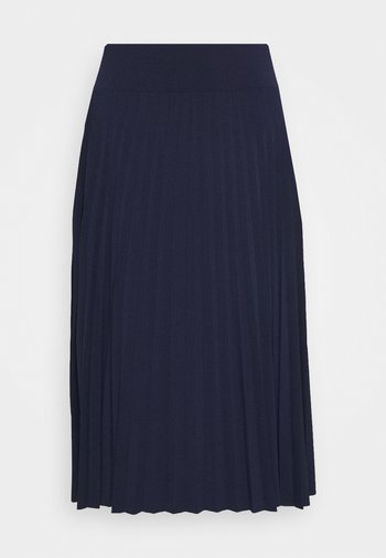 Plisse A-line mini skirt