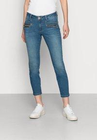 Mos Mosh - BERLIN SATIN JEANS - Slim fit jeans - blue - 0