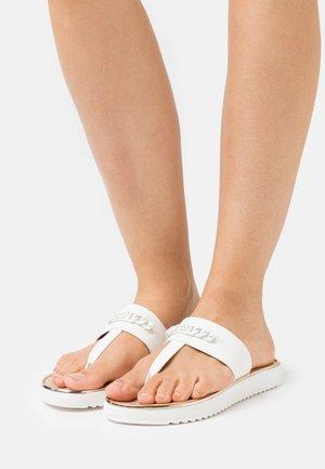 BOIBETH - T-bar sandals - white