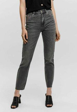 VMBRENDA WAIST - Straight leg jeans - medium grey denim