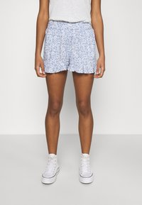 Hollister Co. - CHAIN RUFFLE HEM - Shorts - white/blue - 0