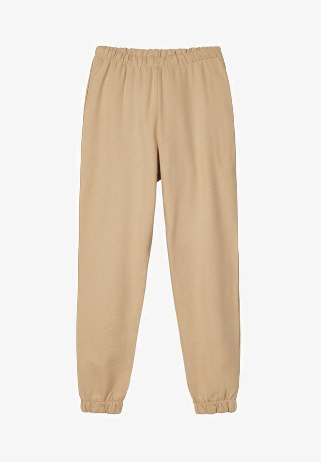 Tracksuit bottoms - travertine