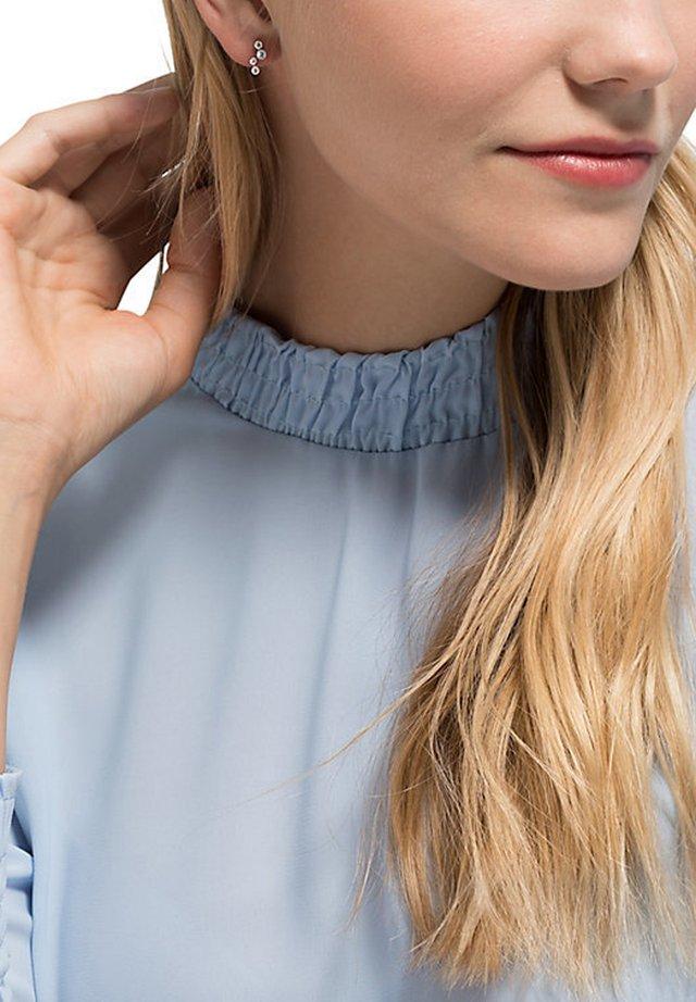 DAMEN-OHRSTECKER 925ER SILBER 4 ZIRKONIA - Earrings - silber