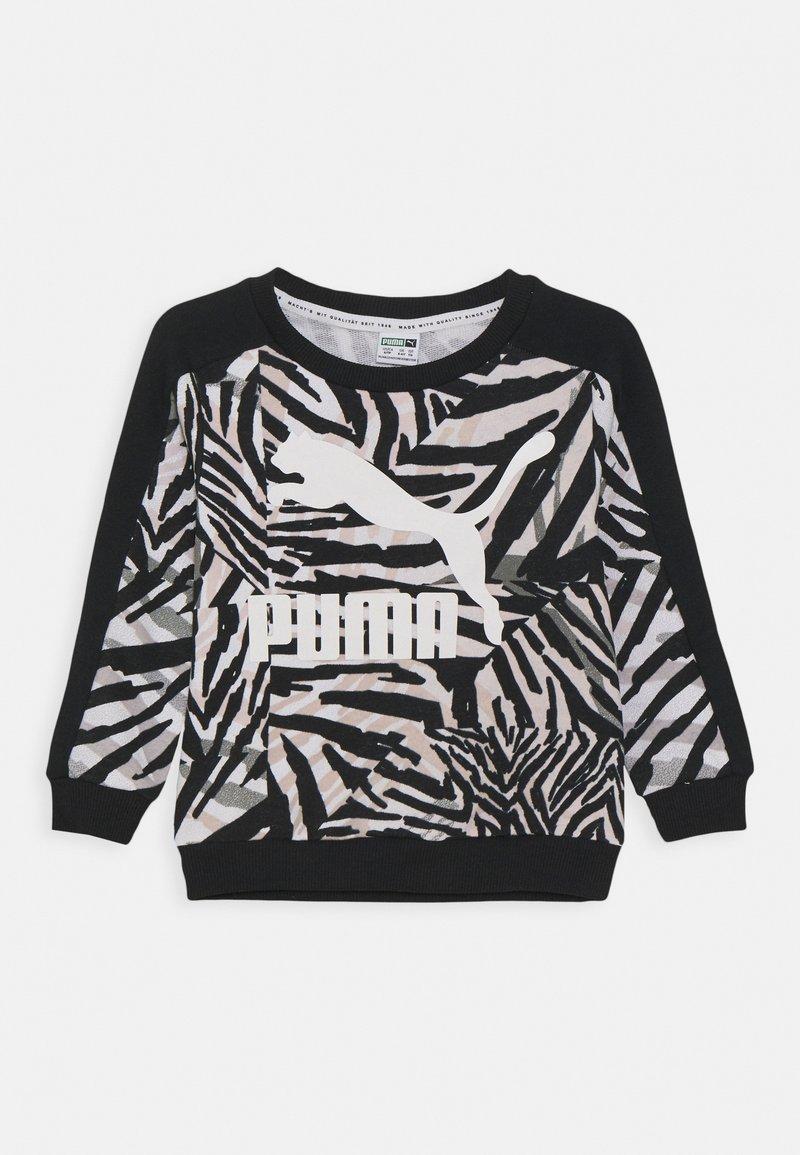 Puma - CLASSICS SAFARI CREW - Mikina - white/black