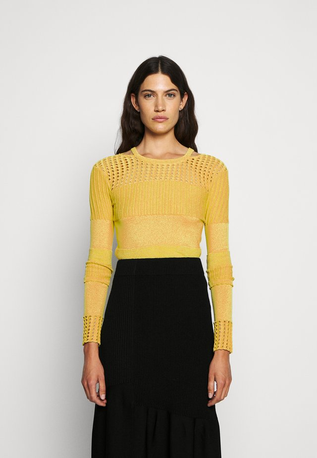 POINTELLE - Jumper - mustard