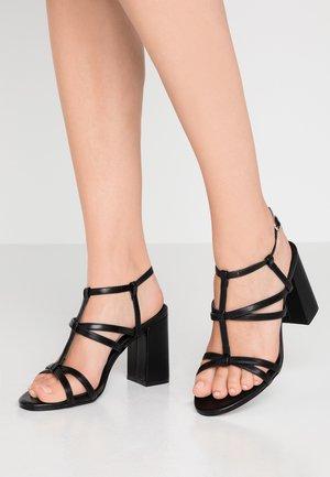 REECE - Sandály na vysokém podpatku - black
