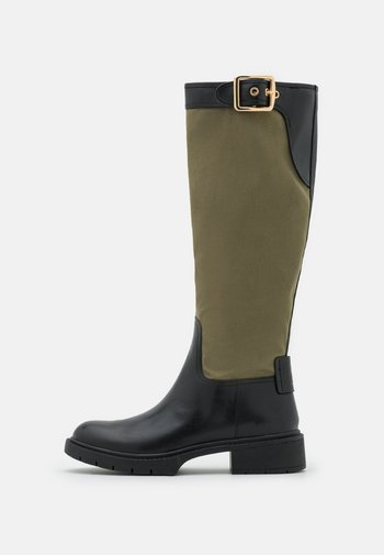 LEIGH TWILL BOOT - Platform boots - army green