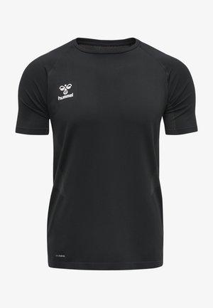 HMLLEAD PRO SEAMLESS - T-shirt med print - black