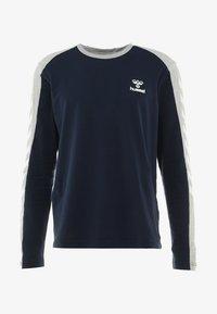 Hummel - FLINT - Langærmede T-shirts - black iris - 4