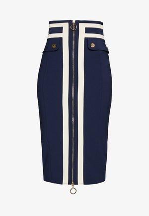 Pouzdrová sukně - dark blue/off-white