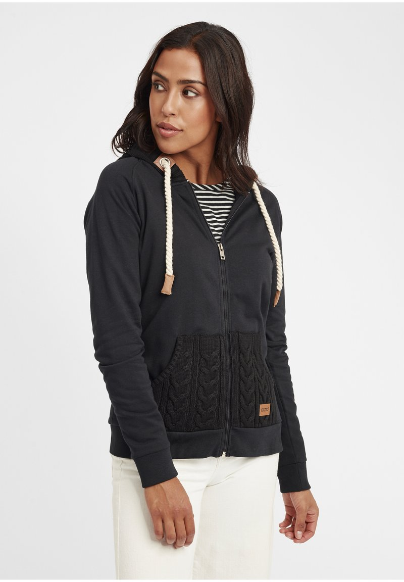 Oxmo - MATILDA - Zip-up hoodie - black