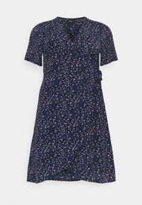 Zizzi - CAANNI WRAP KNEE DRESS - Day dress - night sky - 0