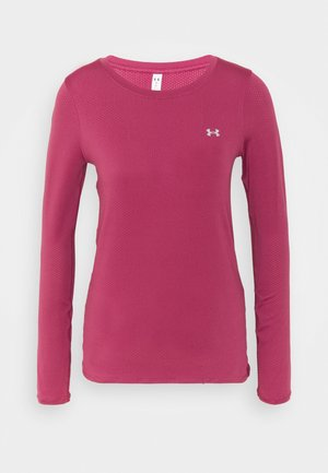 UA ARMOUR LONG SLEEVE - Long sleeved top - pink quartz