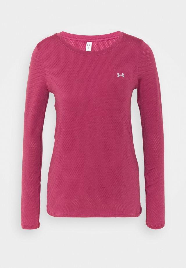 UA ARMOUR LONG SLEEVE - Long sleeved top - pink quartz