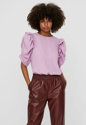 Blouse - violet tulle