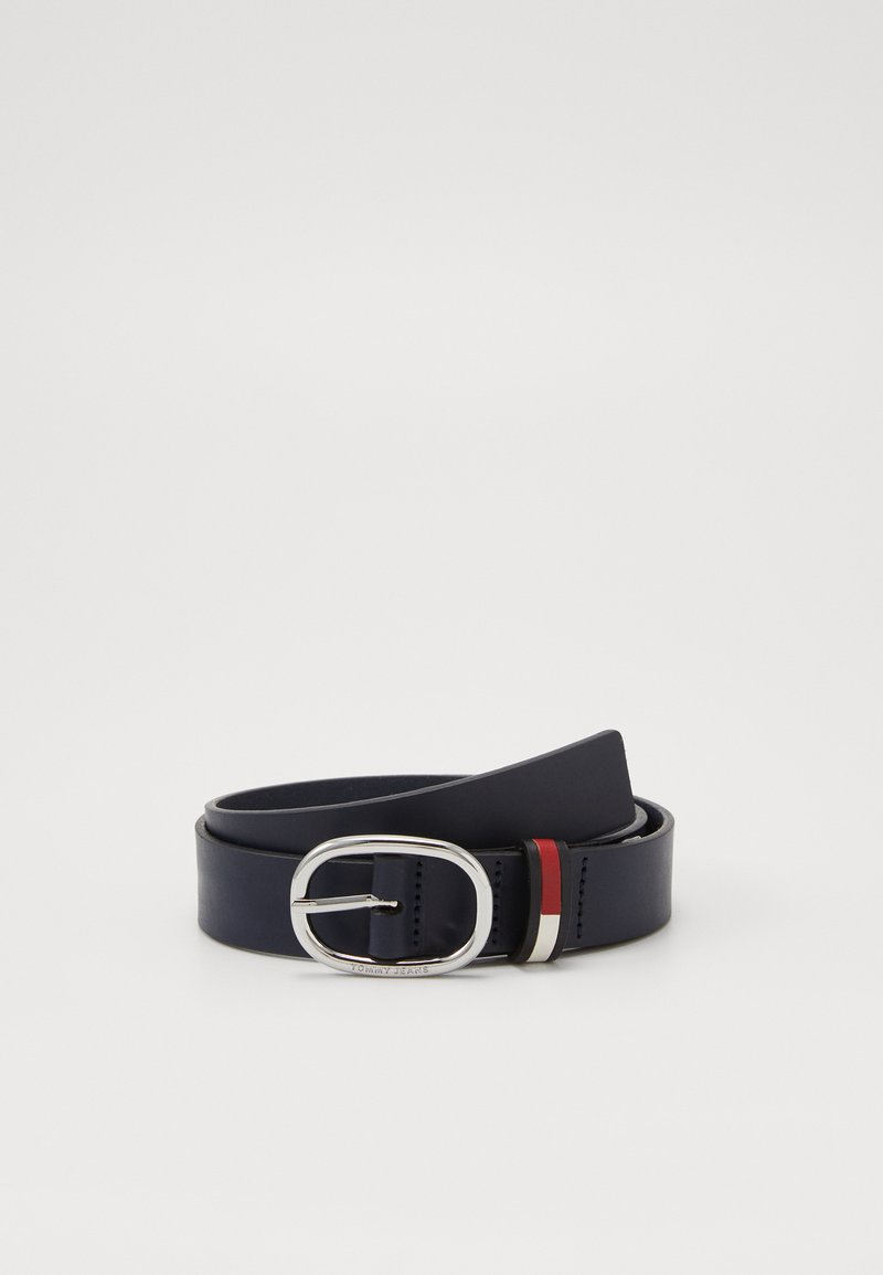 Tommy Jeans - OVAL FLAG INLAY BELT  - Belt - blue